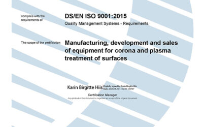 ISO 9001:2015 recertification successfully passed
