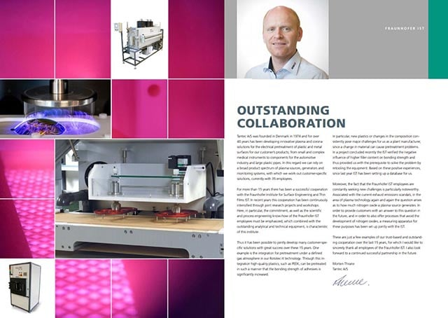 Outstanding collaboration with Fraunhofer IST