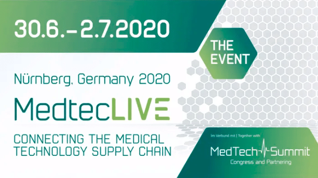Join us at the MedtecLIVE virtual event June 30 – July 2