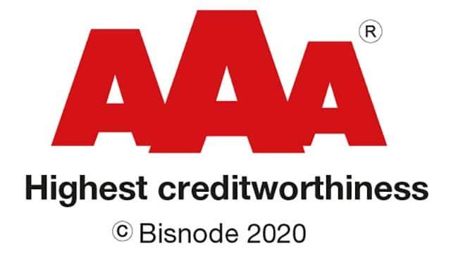 Tantec have achieved Bisnode's highest credit rating again
